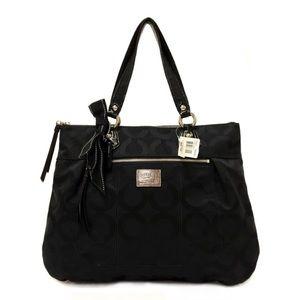 Coach 17937 Pop Art Glam Satchel Black Bag